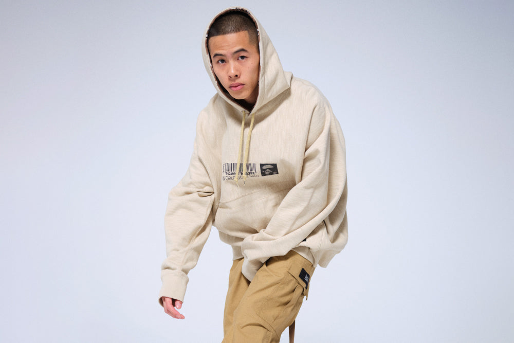 MILITARY LOOSE FIT PULLOVER HOODIE
