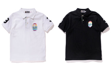 RAINBOW LARGE APE HEAD POLO SHIRT