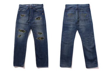 2008 TYPE-05 ABC DAMAGE DENIM PANTS