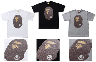 GLASS BEADS BIG APE HEAD TEE