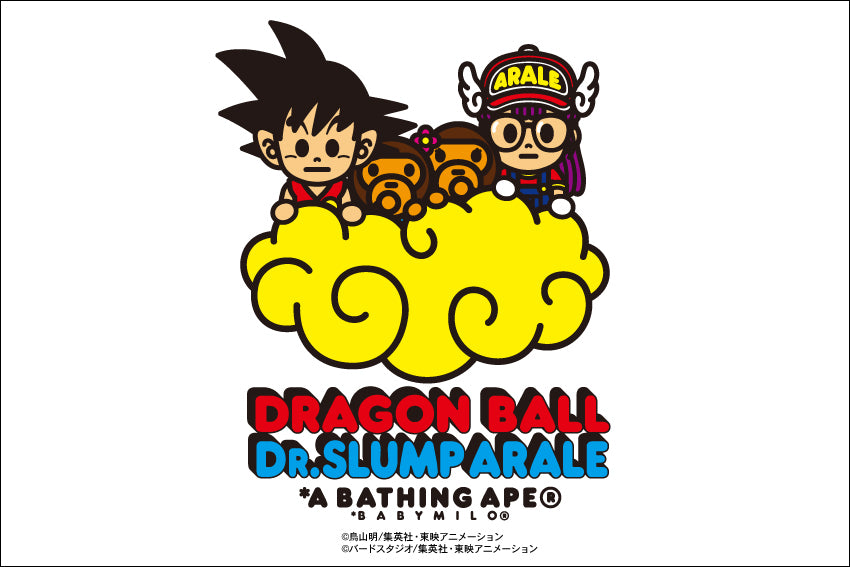 A BATHING APE? x DRAGON BALL + Dr. SLUMP ARALE