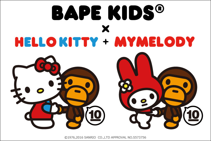 BAPE KIDS® 10TH ANNIVERSARY COLLECTION BAPE KIDS® x HELLO KITTY / MY MELODY