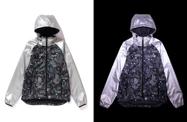 SPACE CAMO LIGHT WEIGHT HOODIE JACKET