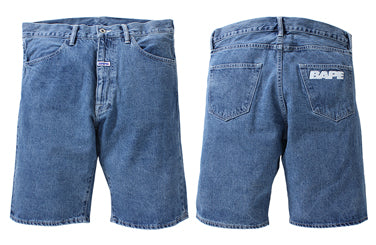 BAPE® RELAXED DENIM  SHORTS