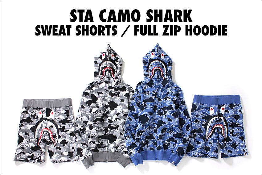 STA CAMO SHARK FULL ZIP HOODIE / SWEAT SHORTS