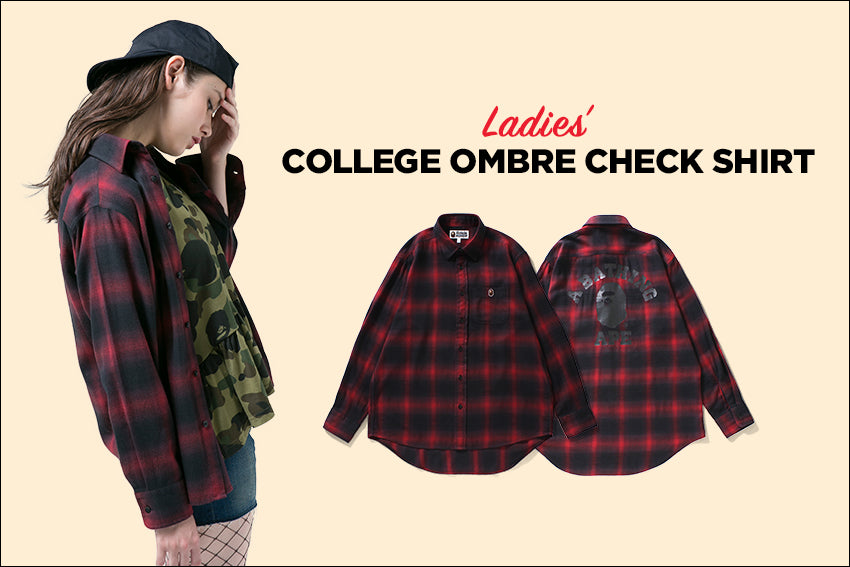 COLLEGE OMBRE CHECK SHIRT