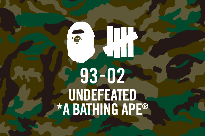 A BATHING APE® × UNDEFEATED