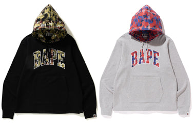 BAPE® CHECK CAMO WIDE PULLOVER HOODIE