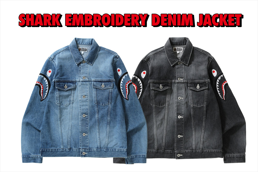 SHARK EMBROIDERY DENIM JACKET