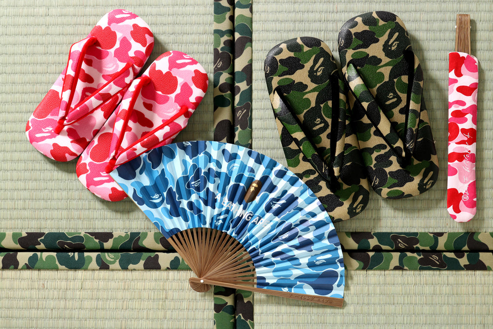 ABC JAPANESE SANDALS / ABC JAPANESE FOLDING FAN