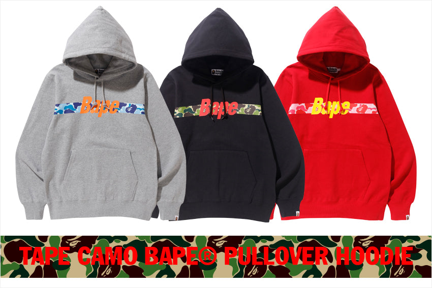 TAPE CAMO BAPE® PULLOVER HOODIE