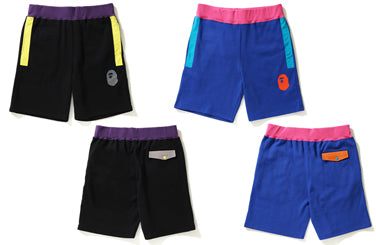 COLOR BLOCK SWEAT SHORTS