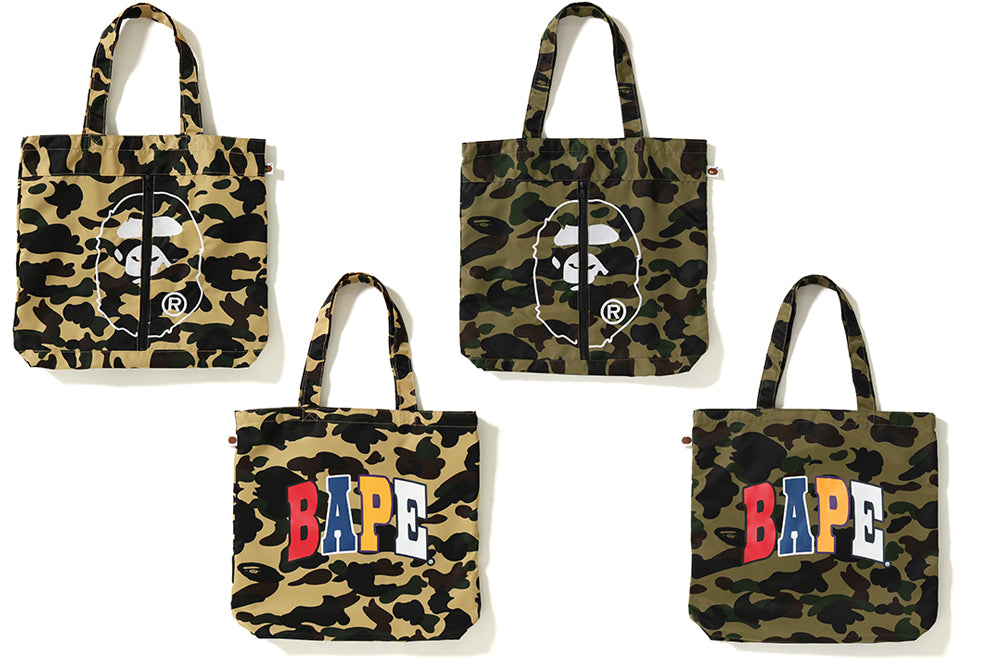 1ST CAMO 2ND APE TOTE BAG
