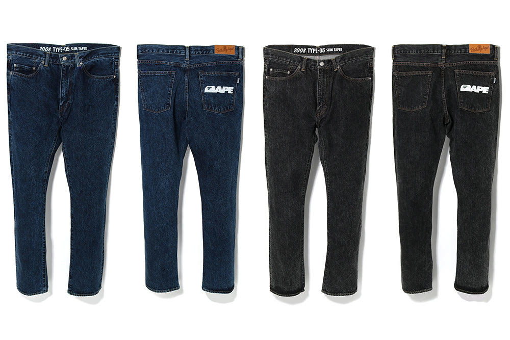 2008 TYPE-05 CHEMICAL WASH DENIM PANTS
