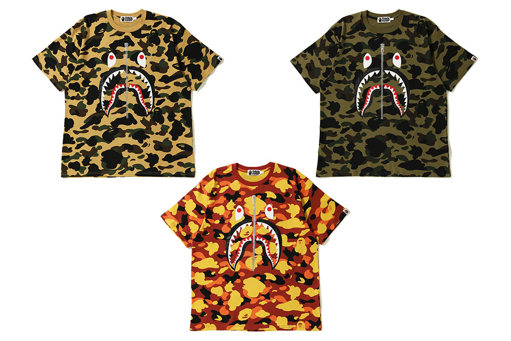 1ST CAMO SHARK WIDE TEE