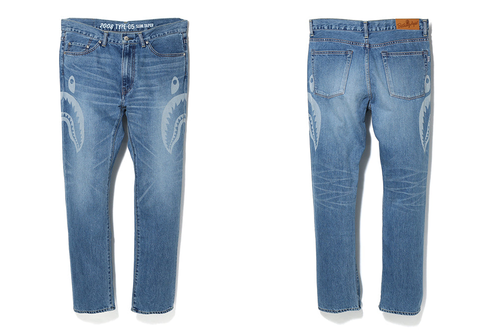 2008 TYPE-05 SIDE SHARK DAMAGE DENIM PANTS
