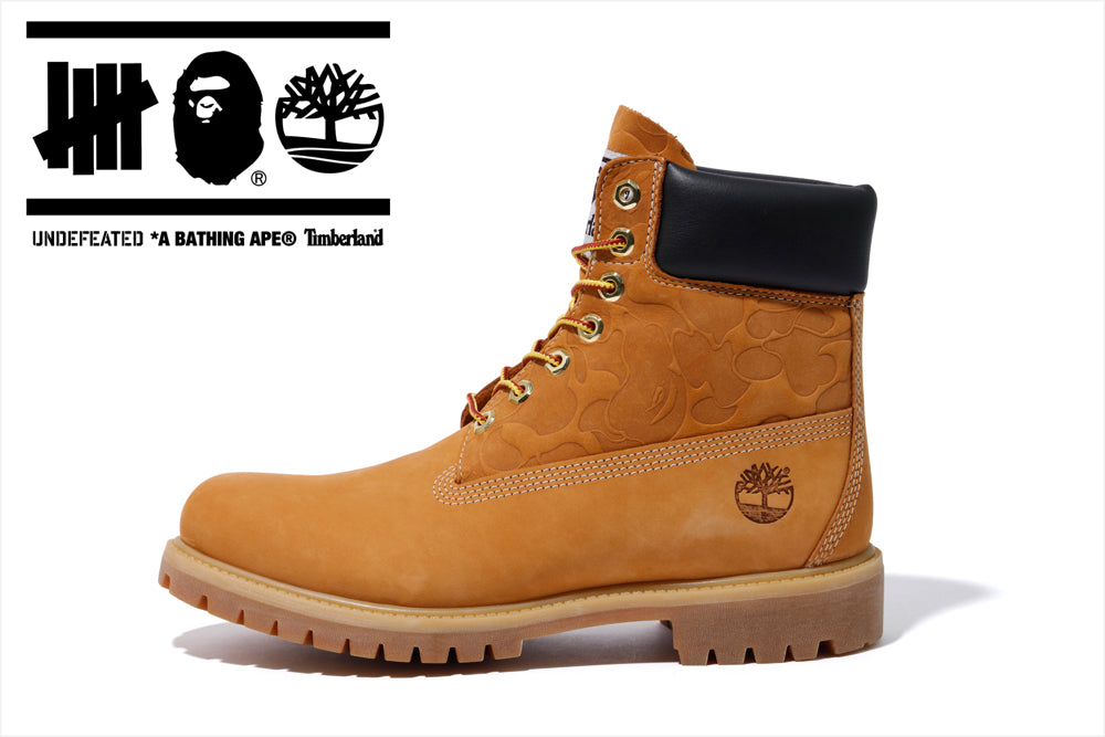 A BATHING APE® x UNDEFEATED x TIMBERLAND