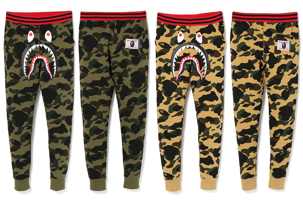 1ST CAMO SHARK SLIM SWEAT PANTS