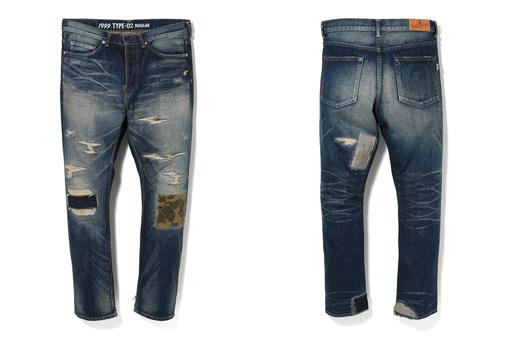 1999 TYPE-02 DAMAGE DENIM PANTS
