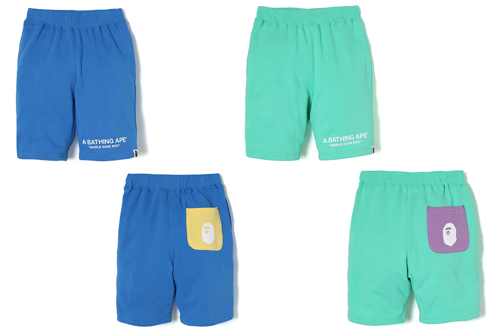 PASTEL COLOR SWEAT SHORTS