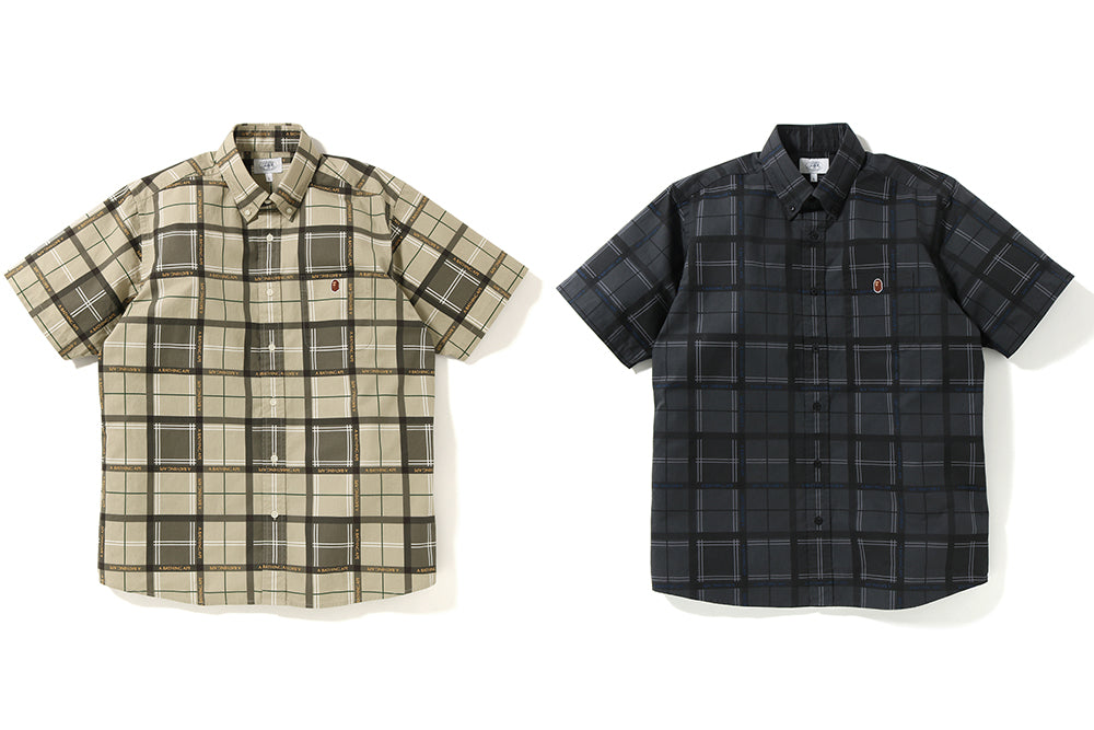 RELAXED BAPE® LOGO CHECK S/S SHIRT