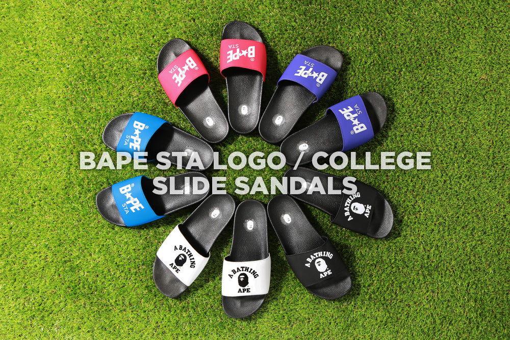 BAPESTA™ LOGO SLIDE SANDALS / COLLEGE SLIDE SANDALS