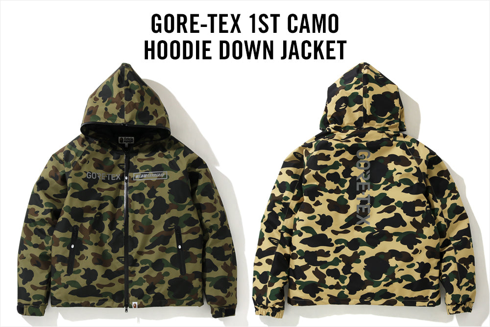 GORE-TEX 1ST CAMO HOODIE DOWN JACKET M