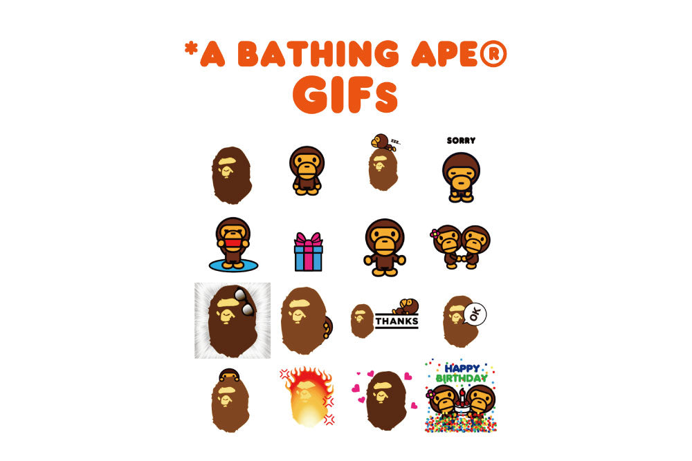 BAPE® OFFICIAL STICKERS LAUNCHING ON GIPHY AND WeChat!