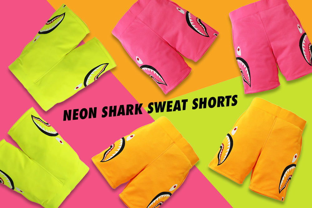 NEON SHARK SWEAT SHORTS