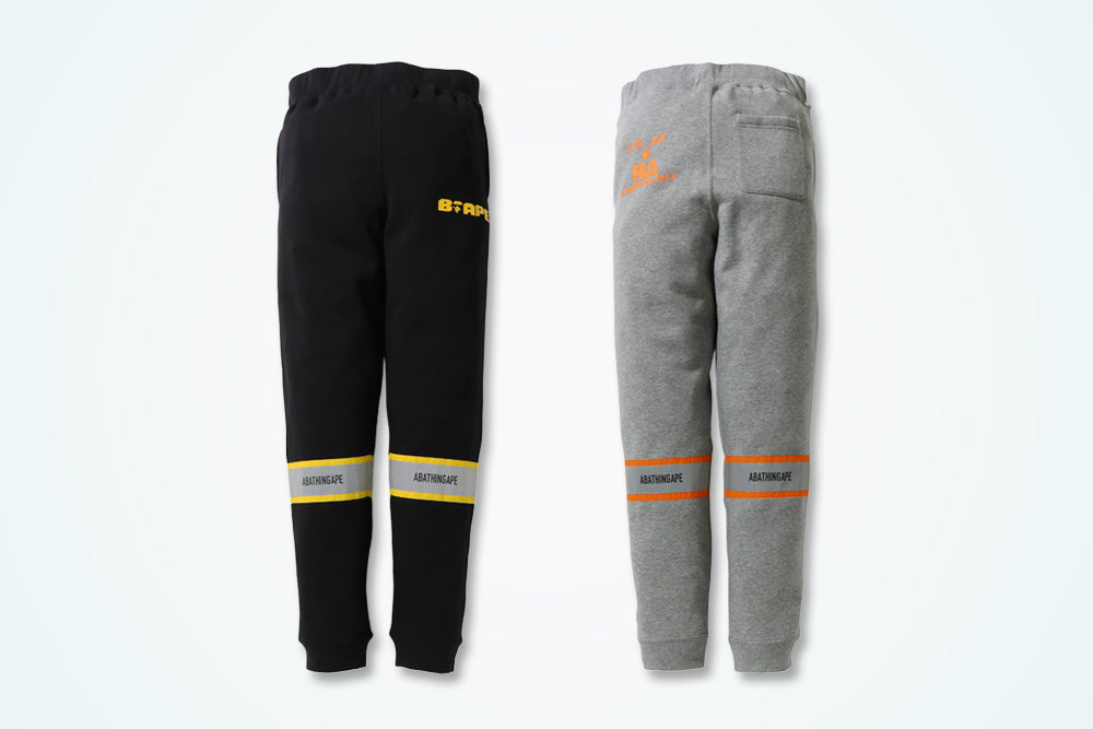 A BATHING APE® REFLECTOR SLIM SWEAT PANTS