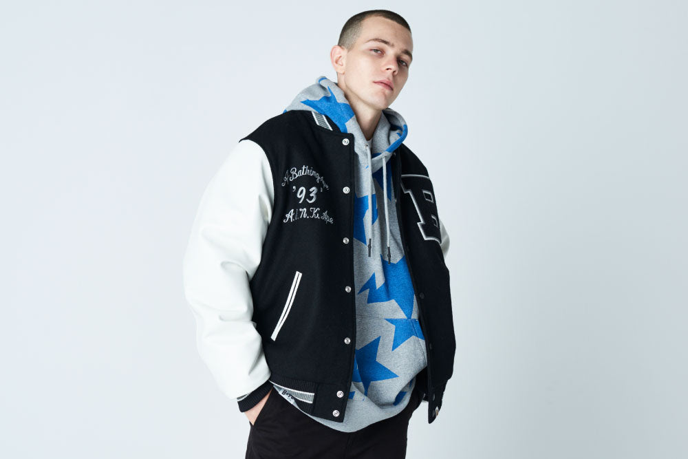 A BATHING APE® VARSITY JACKET