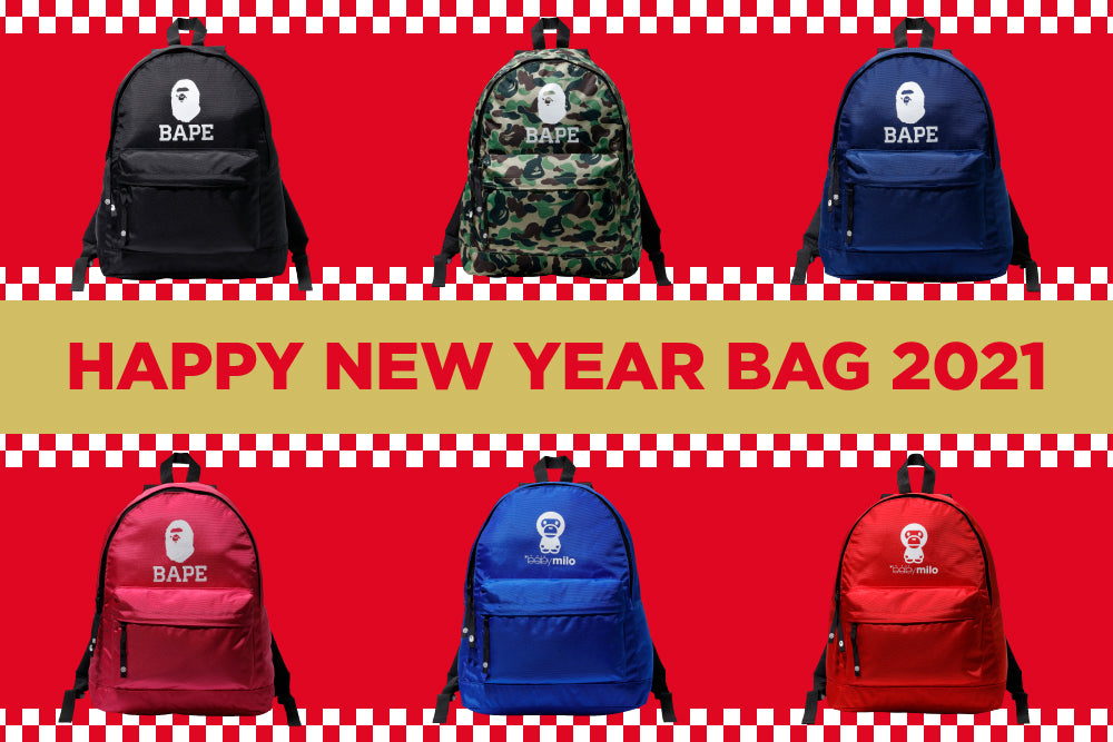 A BATHING APE® HAPPY NEW YEAR BAG 2021