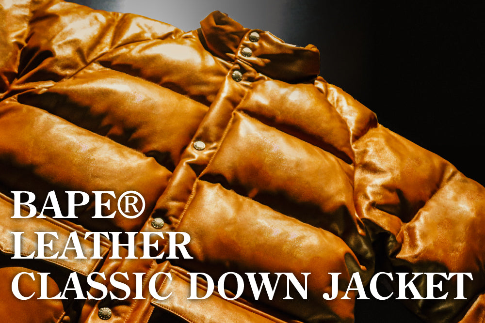 A BATHING APE® LEATHER CLASSIC DOWN JACKET 20TH ANNIVERSARY LIMITED EDITION