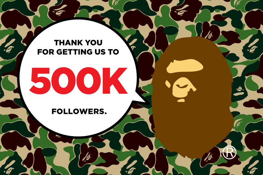 THANK YOU FOR GETTING US TO 500K FOLLOWERS