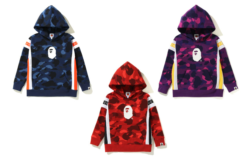 COLOR CAMO LOGO TAPE PULLOVER HOODIE