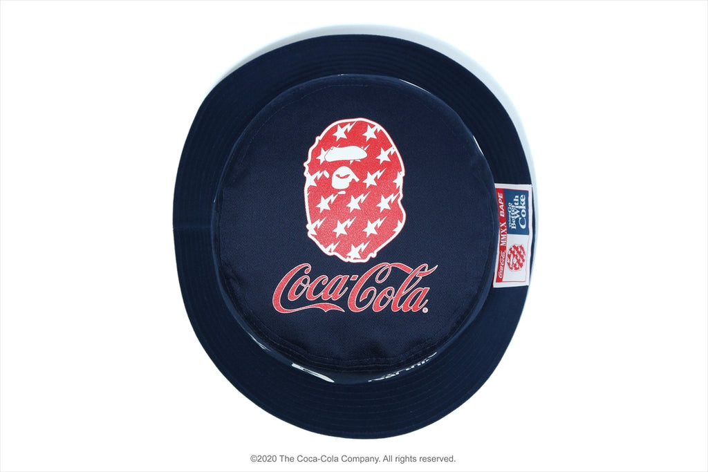【 BAPE X COCA COLA 】BUCKET HAT