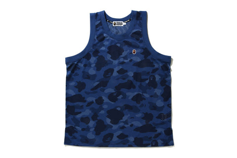 COLOR CAMO MESH BASKETBALL TANK TOP