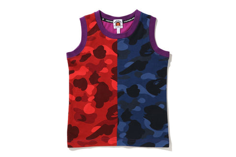 COLOR CAMO CRAZY COLLEGE TANK TOP
