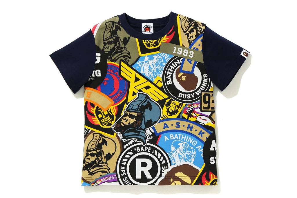PATCHED BIG PRINT TEE