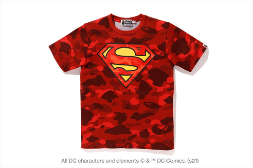 【 BAPE X DC 】SUPERMAN COLOR CAMO TEE