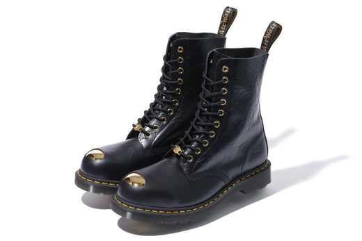【 BAPE X DR.MARTENS 】ABC 10 HOLE STEEL TOE CAP SHOES