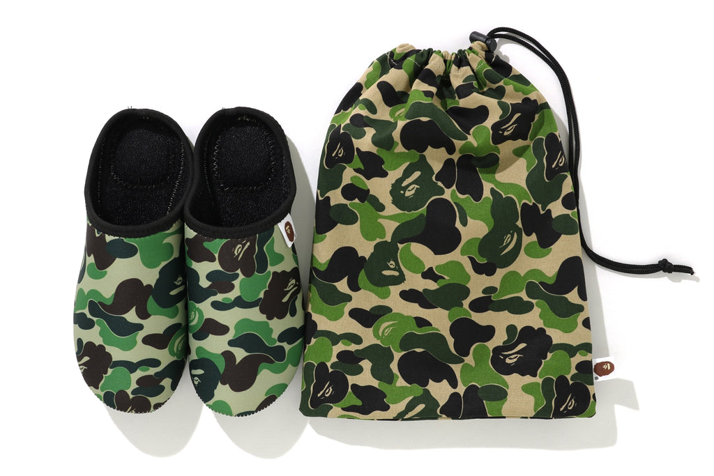 ABC CAMO SLIPPERS & POUCH SET