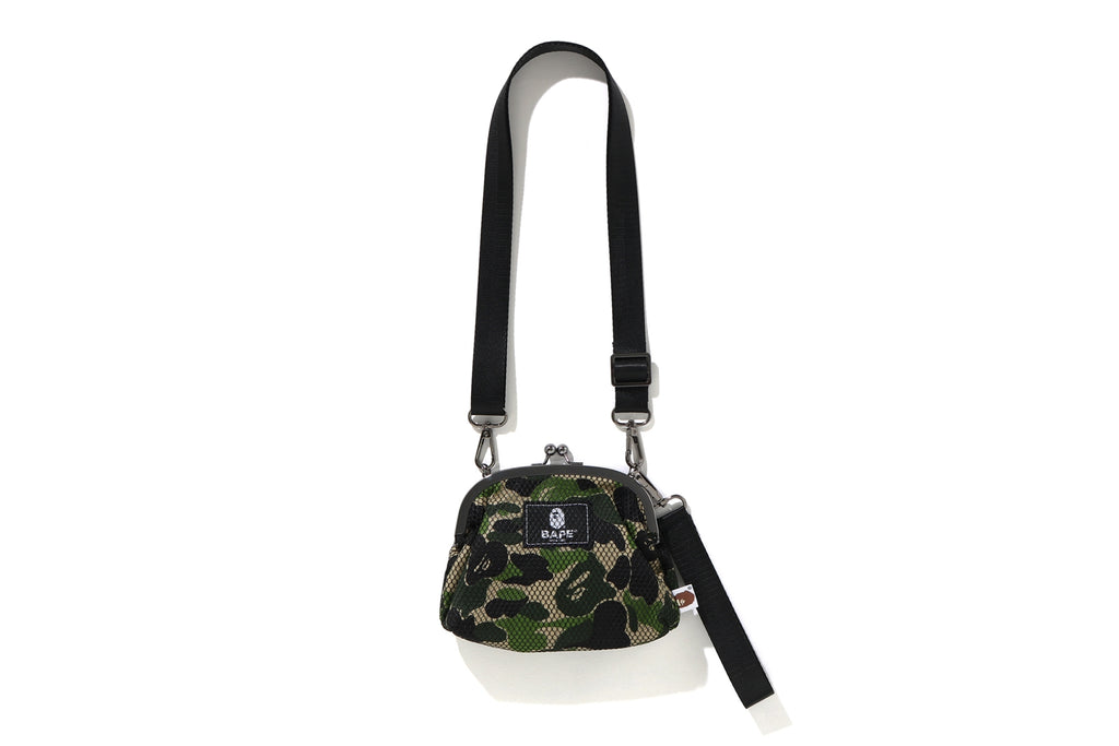 ABC CAMO CLASP MESH SHOULDER BAG