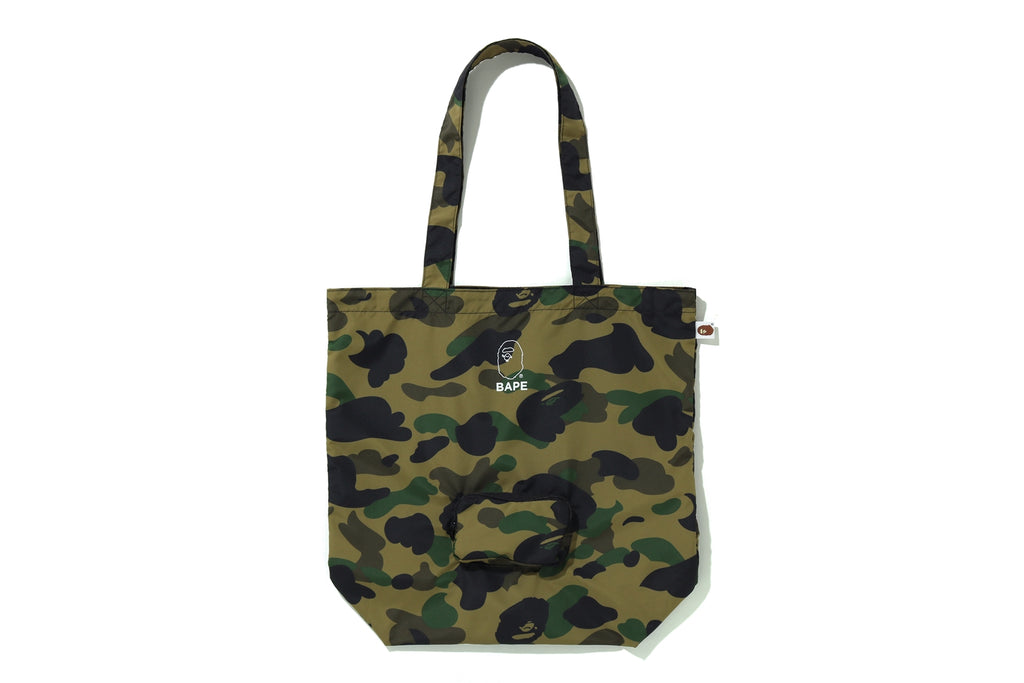 1ST CAMO PACKABLE TOTE BAG