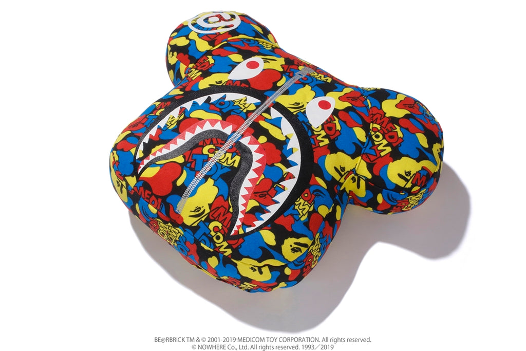 【 BAPE X MEDICOM TOY 】CAMO BE@R CUSHION