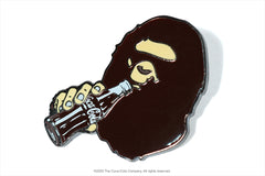 【 BAPE X COCA COLA 】APE HEAD PINTRILL PINS