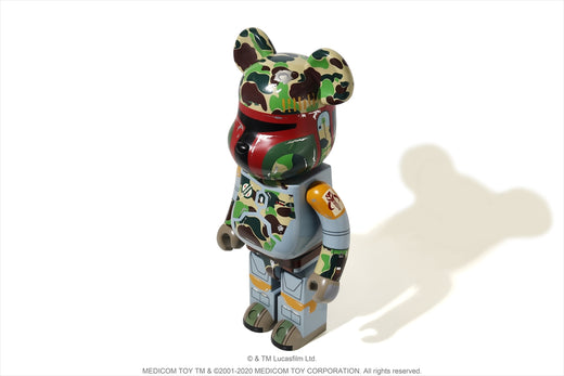 【 BAPE X STAR WARS X MEDICOM TOY 】ABC CAMO BOBA FETT BE@RBRICK 1000%