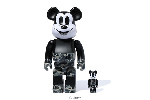 【 BAPE X MICKEY MOUSE X MEDICOM TOY 】BE@RBRICK 100% & 400%
