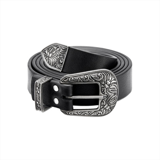 【 BAPE BLACK 】SILVER BUCKLE BELT