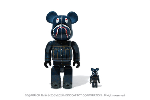 【 BAPE X LEVI'S 】BE@RBRICK 100% & 400% SET